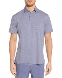 fbd0cf85 Peter Millar Featherweight Polo Shirt in Blue for Men - Lyst