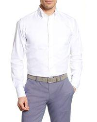 Thomas Pink Weekend Trim Fit Oxford Dress Shirt - White