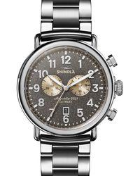 Shinola 'the Runwell Chrono' Bracelet Watch - Metallic