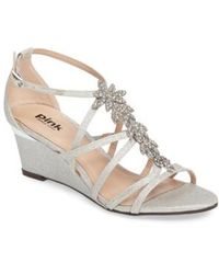 Paradox London Pink - Hadley Embellished Strappy Wedge - Lyst