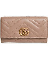 Gucci - Marmont 2.0 Leather Continental Wallet - Lyst