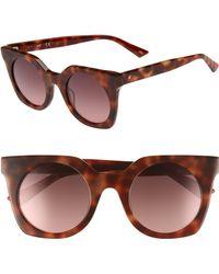 Web - 48mm Sunglasses - Blonde Havana/ Gradient - Lyst