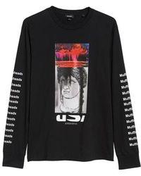 DIESEL - Diesel Large-x Graphic Long Sleeve T-shirt - Lyst