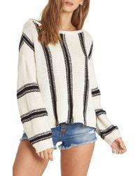 Billabong - Calm Seas Stripe Cotton Sweater - Lyst