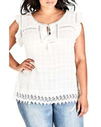 City Chic - Sweet Fling Top - Lyst