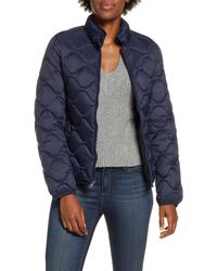 UGG Ugg Selda Packable Water Resistant Quilted Jacket, Blue