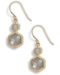 Anna Beck - Grey Moonstone Double Drop Earrings - Lyst