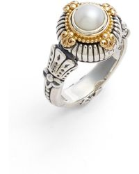 Konstantino - Etched Sterling & Cultured Pearl Ring - Lyst