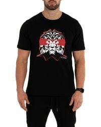 Maceoo Ninja Lion Graphic Tee - Black