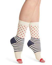 Happy Socks - Stripes & Dots Crew Socks - Lyst