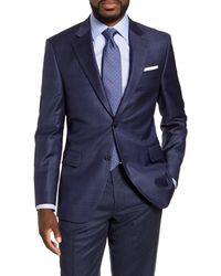 Peter Millar Flynn Classic Fit Plaid Wool Sport Coat - Blue