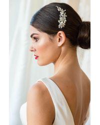 Brides & Hairpins 'catherine' Jewelled Hair Comb - Metallic