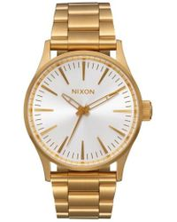 Nixon - Sentry Bracelet Watch - Lyst