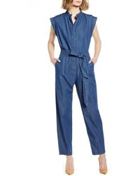 7 For All Mankind 7 For All Mankind Denim Jumpsuit - Blue