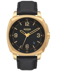 Nixon | Charger Leather Strap Watch | Lyst