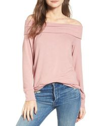 Cupcakes And Cashmere - Brooklyn Off The Shoulder Sweater - Lyst