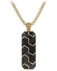 David Yurman - ??orged Carbon 18k Yellow Gold Ingot Pendant - Lyst