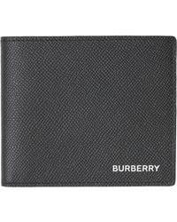 Burberry Reg Cc Leather Wallet - Black