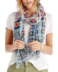 Sole Society - Mixed Tile Print Scarf - Lyst