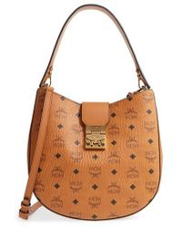 MCM - Patricia Visetos Coated Canvas Hobo - Lyst