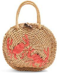 TOPSHOP - Crab Straw Mini Tote Bag - - Lyst