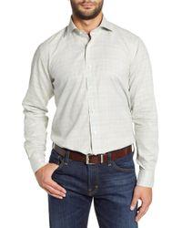 Peter Millar - Melange Glen Plaid Sport Shirt - Lyst