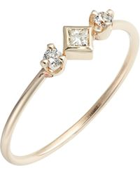 Zoe Chicco - Diamond Bezel Ring - Lyst