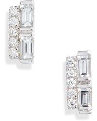 Bony Levy Gatsby Mixed Diamond Stud Earrings (nordstrom Exclusive) - Metallic