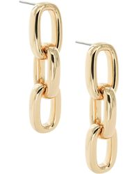 Uncommon James by Kristin Cavallari Chain Link Drop Earrings - Metallic