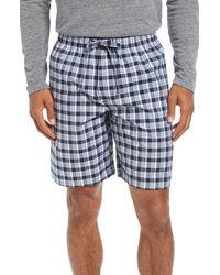 Nordstrom Men's Shop Stretch Poplin Pajama Shorts - Blue