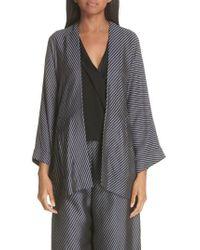 Zero + Maria Cornejo - Oki Bias Stripe Wrap Jacket - Lyst