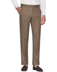 Zanella - Parker Flat Front Wool Flannel Trousers - Lyst
