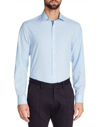 W.r.k. - Trim Fit Dot Performance Dress Shirt - Lyst