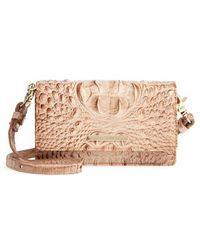 Brahmin - Nadia Croc Embossed Leather Crossbody Bag - - Lyst