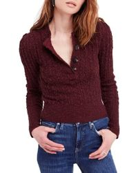 Free People - All My Friends Henley Pullover - Lyst