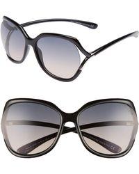 44075749dd75 Tom Ford - Anouk 60mm Geometric Sunglasses - Lyst