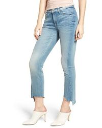 7 For All Mankind - 7 For All Mankind Roxanne Kick Side Cutoff Jeans - Lyst