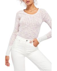 Free People Spaced Out Knit Shirt - Pink