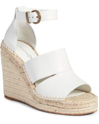 Treasure & Bond Sannibel Platform Wedge Sandal - White
