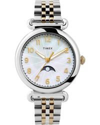 Timex Timex Model 23 Moon Phase Bracelet Watch - Metallic