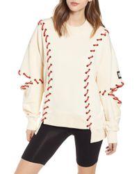 Ivy Park Ivy Park Baseball Stitch Sweatshirt - Natural