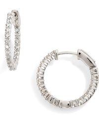 Bony Levy - Luxe Diamond Hoop Earrings (nordstrom Exclusive) - Lyst