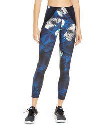 New Balance Nb Sleek Transform Print 7/8 Tights - Blue