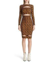 Eckhaus Latta - Floral Velvet Burnout Body-con Dress - Lyst