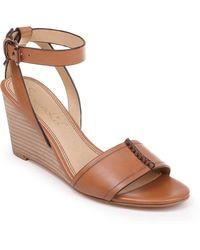 Splendid Tadeo Wedge Ankle Strap Sandal - Brown