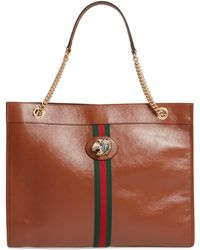 d2e33736be0 Gucci - Large Linea Rajah Leather Tote - Lyst
