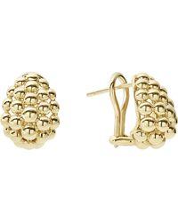 Lagos - 18k Gold Caviar Bold Button Stud Earrings - Lyst