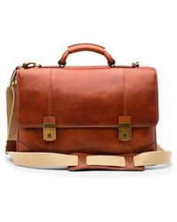 Bosca - Dolce Leather Briefcase - Lyst
