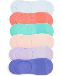 Nordstrom 6-pack No-show Liner Socks, Pink - Multicolor