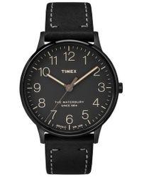 Timex - Timex Waterbury Leather Strap Watch - Lyst